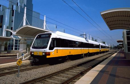 DART light-rail train in Dallas