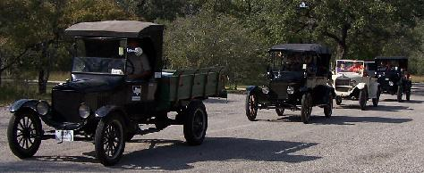 Model Ts at Guadalupe River State Park