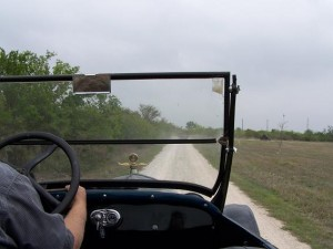 Model T on unpaved road
