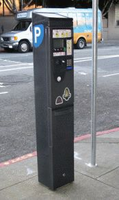 Pay-and-display station in San Francisco
