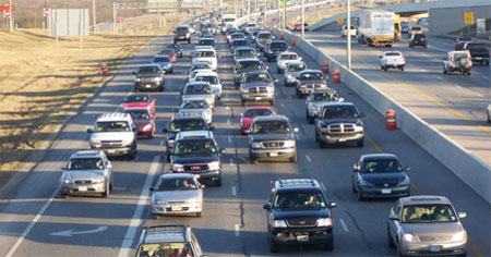 San Antonio traffic jam
