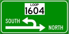 LP 1604 superstreet sign