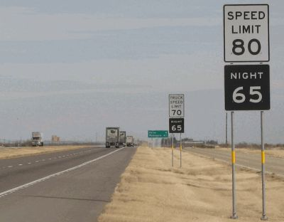 West Texas speed limit signs