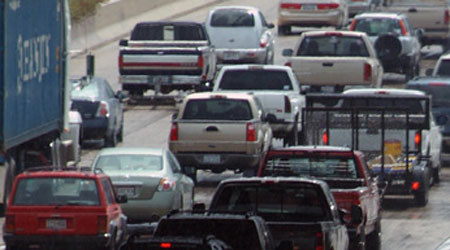 Worst traffic road conditions in Texas